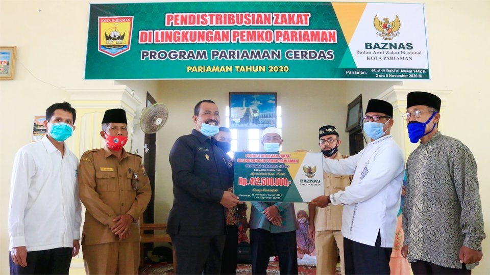 Baznas Distribusikan Program Pariaman Taqwa