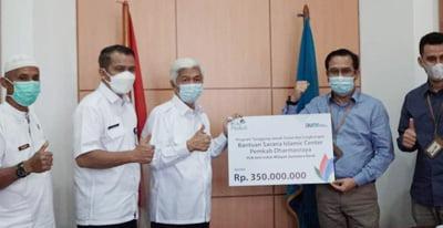 Dukung Program Islamic Center Dharmasraya, PT PLN Serahkan CSR Rp350 Juta