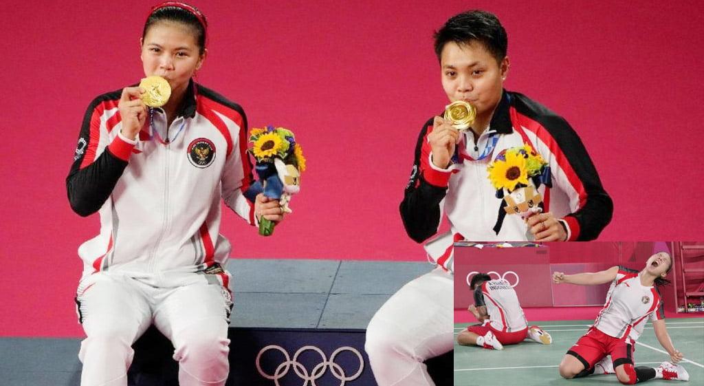 Taklukan Ganda Putri China, Greysia dan Apriyani Raih Emas Olimpiade Tokyo