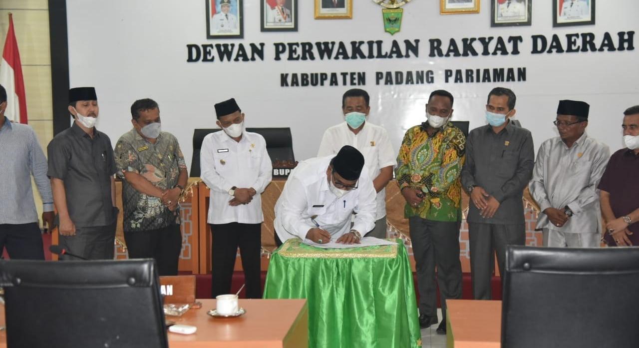 DPRD Kabupaten Padangpariaman Setujui KUA dan PPAS Perubahan 2021